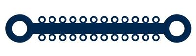 Picture of Ligature O - Ties Midnight Blue - PK/1008