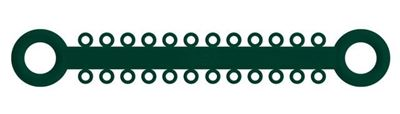 Picture of Ligature O - Ties Emerald - PK/1008