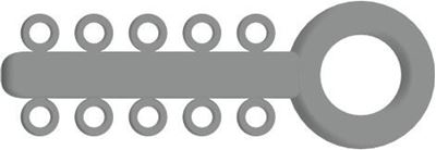 Picture of Mini Ligature O - Ties Silver - PK/1000