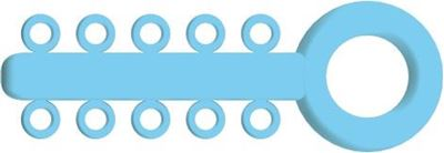 Picture of Mini Ligature O - Ties baby Blue - PK/1000