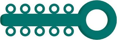Picture of Mini Ligature O - Ties Teal - PK/1000