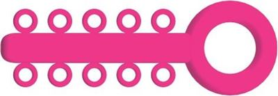 Picture of Mini Ligature O - Ties Neon Pink - PK/1000
