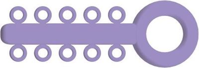Picture of Mini Ligature O - Ties Lilac - PK/1000