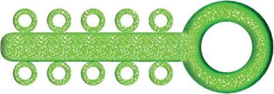 Picture of Mini Ligature O - Ties Sparkle Green - PK/1000