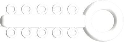 Picture of Mini Ligature O - Ties White - PK/1000