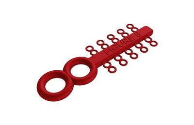 Picture of Figure 8 Ties Red - PK/100